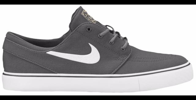 new arrival fd865 03c03 Nike ZOOM STEFAN JANOSKI CNVS Dark Grey White Skate 615957-027 (328) Men s