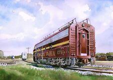 Matted Art Prints Ma /& Pa Railroad #1506 EMD GP-7 at York Station Pennsylvania