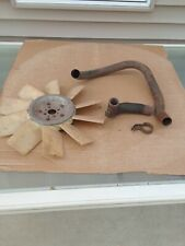 Vintage Oliver Tractor Parts Air Exhaust Pipes Radiator Fan Used