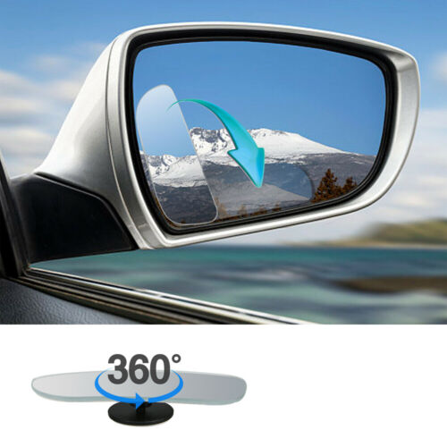 2x STICK-ON BLIND SPOT 360°WIDE ANGLE MIRROR WING VAN CAR SAFETY REAR SIDE VIEW