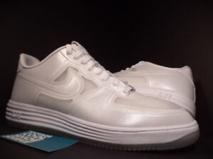 Details about 2013 Nike LUNAR AIR FORCE 1 FUSE QS EASTER PEARL WHITE ICE SOLES 614491 100 11