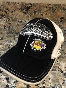 Los-Angeles-Lakers-2002-NBA-Champions-Official-Reebok-Fitted-Cap-Hat-Size-L-XL