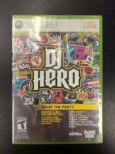DJ Hero Xbox 360 Brand New Factory Sealed NIB Complete CIB Microsoft