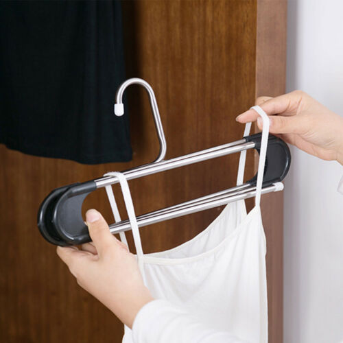 Pants Hanger Organzer S-Type 5 Layers Clothes Trousers Holder Closet Storage