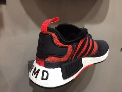 buy online 78de6 96ee1 adidas NMD R1 Stencil Pack Black Solar Red White Men & GS Sz 4Y-13 New DS |  eBay