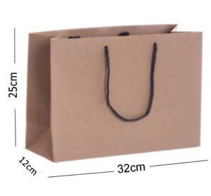 Brown-Kraft-recycle-Paysage-boutique-shop-Sacs-Cadeau-Forte-Corde-Poignee-Sac