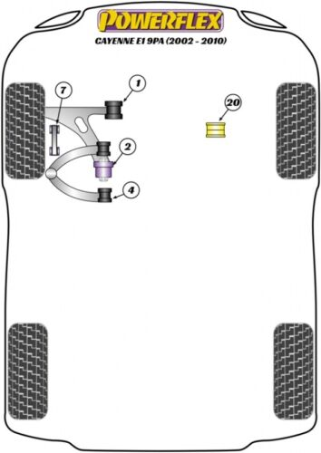 Powerflex PU Koppelstangenlager Stabiverbindung VW Touareg Porsche Cayenne Q7 VA
