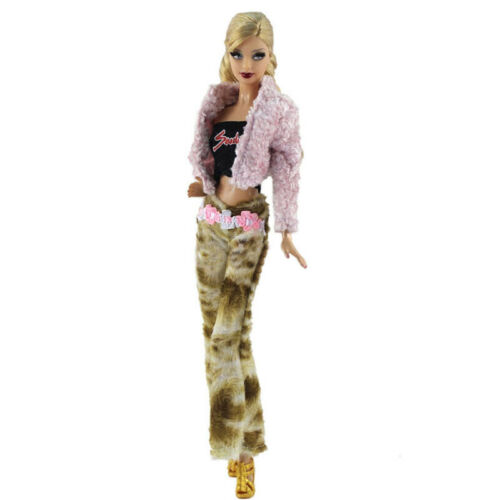 """Fashion Doll Clothes for 11.5/"""" Doll Accessories Outfits Fur Coat Pants 1//6 Toys"""