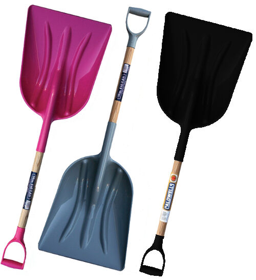 Faulks Abs Grain Shovel Shavings / Snow Scoop Stable Grey