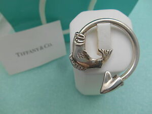 Tiffany-amp-Co-Fish-Themed-Solid-Sterling-Silver-Key-Chain-Ring-Very-Rare