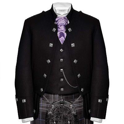 Freundlich 100% Wolle Schottisch Highlander Militär Tunika Sherrifmuir Kilt Jacke & Weste Spezieller Kauf