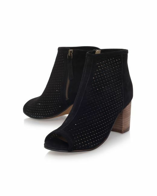 CARVELA BLACK BOOTS .. SUEDE .. PEEP TOE  .. UK 3 / 5 / 6 / 8    EU 36 38 39 40