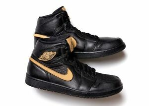 Nike Air Jordan 1 Retro High BHM Black Gold Size 11. 908656-001 og ... a439c6e08e74