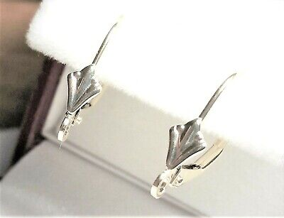 10kt Pure Solid Yellow Gold Pair Dangling Lever BACKS only!