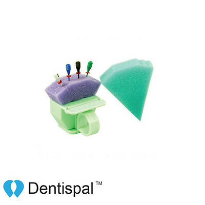 Dental Endo Triangle Sponge Foam cushions Refill Inserts Green 50 pcs