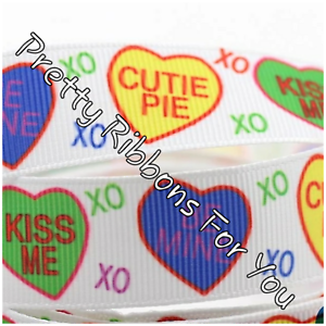 """XoXoXo Valentine/'s Day 3//8/"""" grosgrain ribbon the listing is for 5  yards total"""