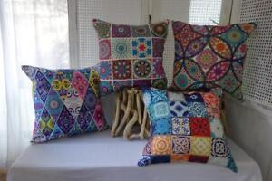 Bohemian-Abstract-Bright-Colours-Cotton-Blend-Cushion-Cover-45