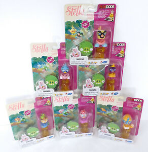 Angry-Birds-Stella-Telepods-Lot-w-6-Figure-Packs-amp-Accessories