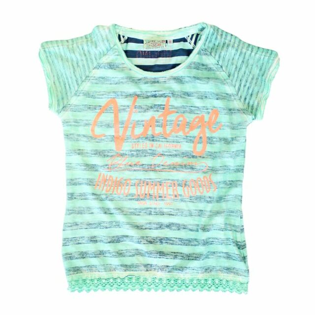 Vingino Mädchen T-Shirt Ilaria, Shirt dark mint  Gr. 110 - 116   SALE - 40 %