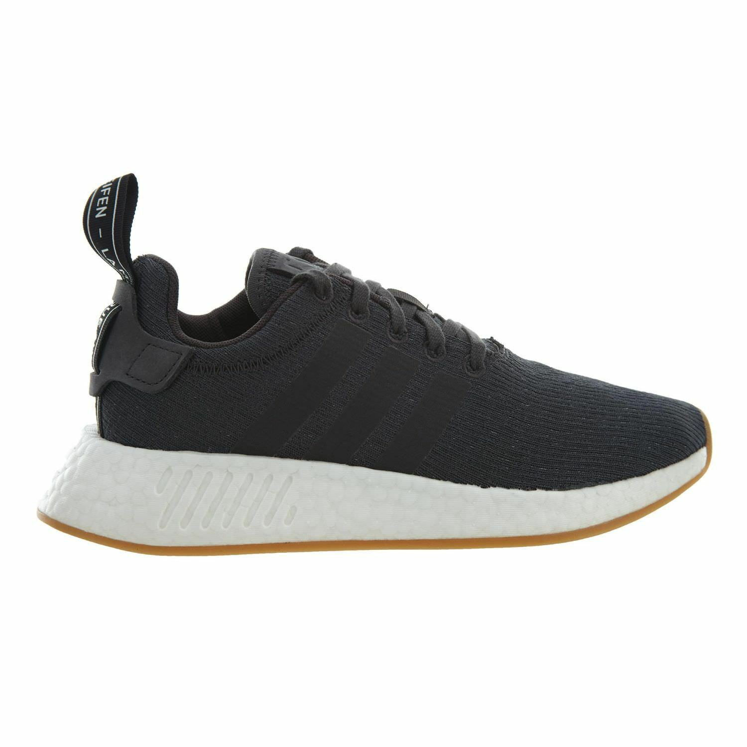 Adidas Nmd_R2 Mens CQ2400 Grey Black White Knit Boost Running Shoes Comfortable