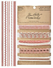 New Tim Holtz Idea-ology Trimmings Red/Cream