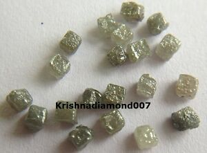 1.17 ct Lot 1.5-2.0 MM 100% Natural Gray Cube Rough Diamond for Jewelry Decorate