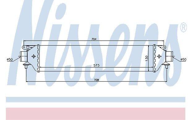 NISSENS Radiador de aire admisión OPEL FIAT PUNTO ALFA ROMEO VOLVO V70 96615