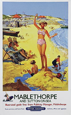 MABLETHORPE & SUTTON SEA  Vintage Railway Poster A1,A2,A3,A4 Sizes