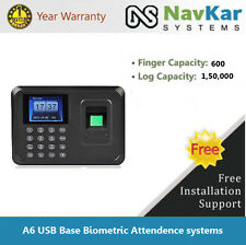 A6 Excel Output in USB Pen Drive Biometric  Fingerprint Time Attendance System