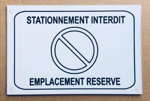 "Plaque sign /""no parking location reserve/"" signage"