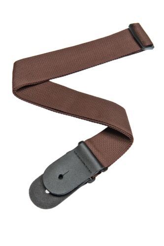 Planet Waves by D/'Addario Polypro Guitar Strap with Leather Ends Brown
