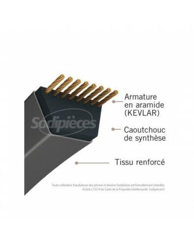15,8 mm x 1321 mm. Courroie tondeuse 5L52 Kevlar Trapézoïdale