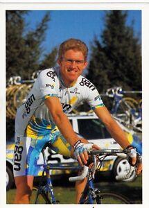 CYCLISME-carte-cycliste-GERARD-RUE-equipe-GAN-1996
