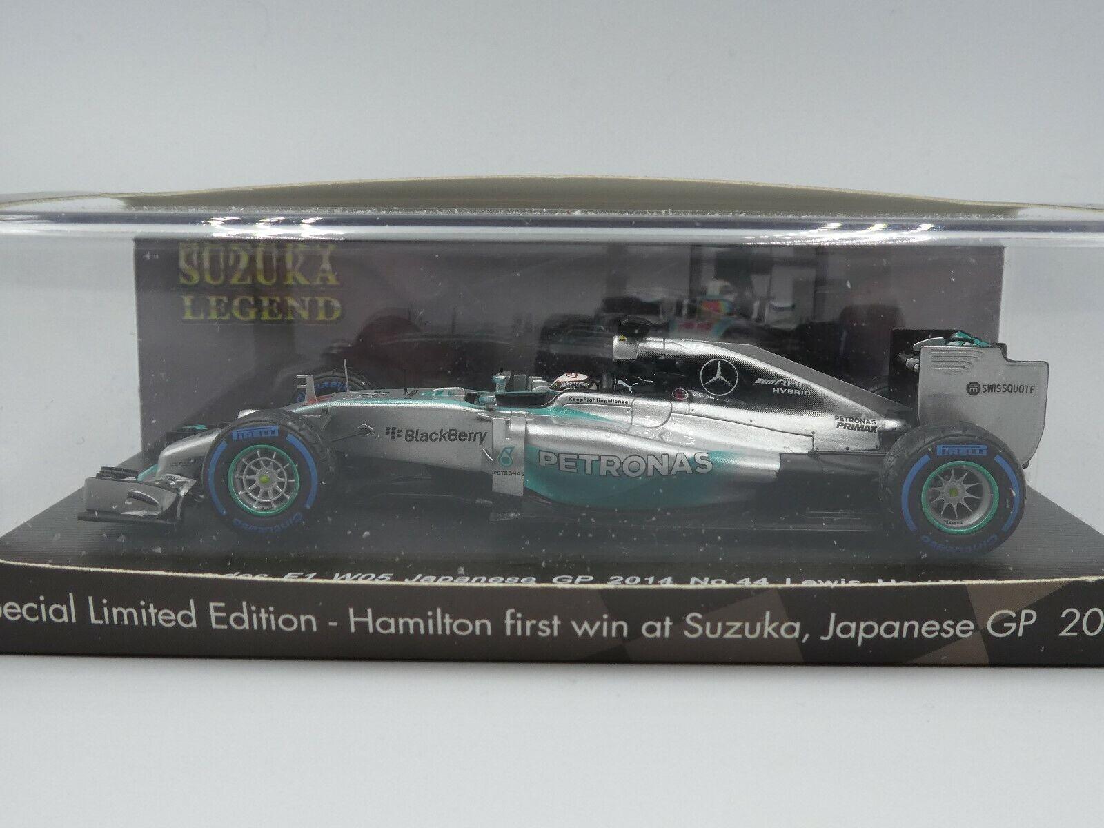 Spark 1 43 Lewis Hamilton Mercedes W05 Winner Japanese GP 2014 Suzuka Legend box