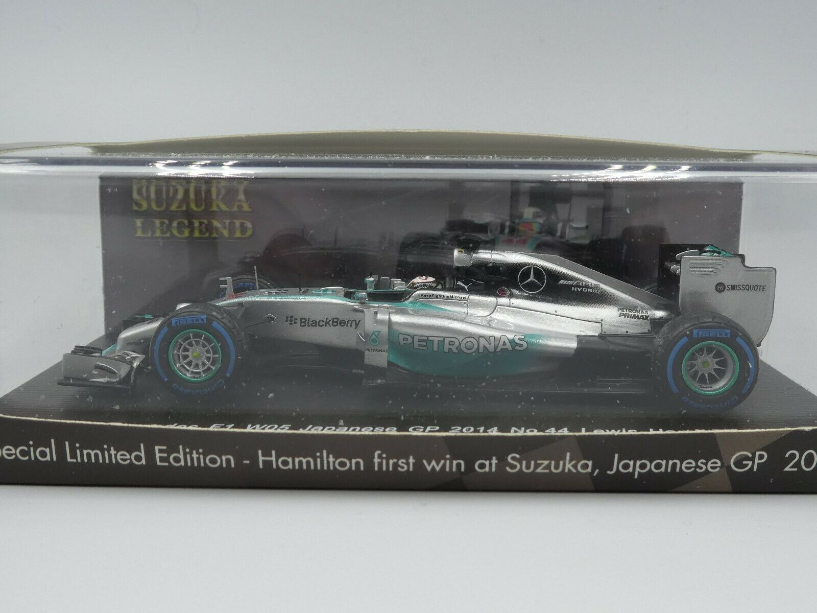 SPARK 1 43 Lewis Hamilton Mercedes W05 Winner Japanese Japanese Japanese GP 2014 SUZUKA LEGEND Box 5cb437