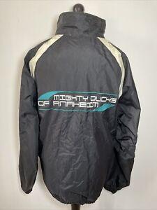 Puma Vintage NHL Mighty Ducks Of Anaheim Lightweight Windbreaker Jacket XXL RARE