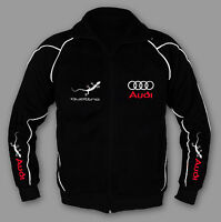 New AUDI Quattro Male Jacket Racing Sport Embroidery rs quattro EU MADE XS - 7XL