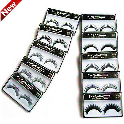 10 Pairs Long Soft Natural Thick False Cross Fake Eyelashes Eye Lash MakeUp 004