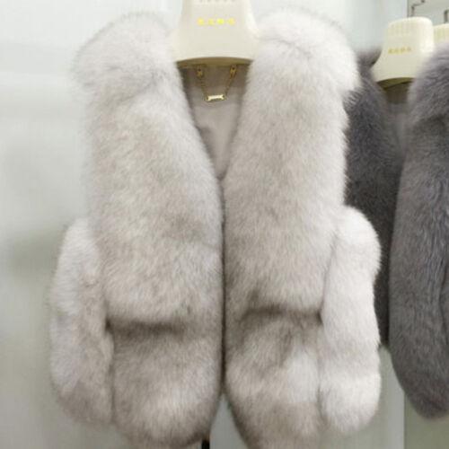 Fox Fur Vest Coat Waistcoat Gilet Outerwear Vulpes Women/'s Gifts Full Pelt Real