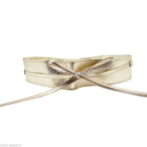 Damen Breite Gürtel Hüftgürtel Taillengürtel Stretchgürtel 220cm Farben M12412
