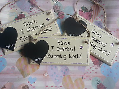 Personalised Slate Heart Diet Weight Loss Sign//Plaque//Counter Gift Present