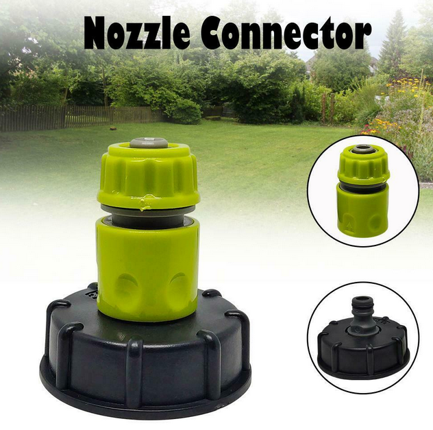 IBC Tank Tap Adapter Garden Hose Connector Plastic Water Hose Pipe Adapter 3/4