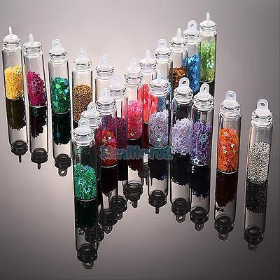 20 Bottles 3D CAVIAR,SHELLS,GLITTER,FLITTER Decoration Nail Art Manicure Sticker