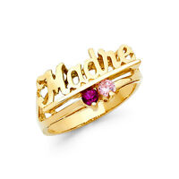 0.25 Ct madre Mom Ring Mother's Day Gift Love Mother's Ring 14k Yellow Gold