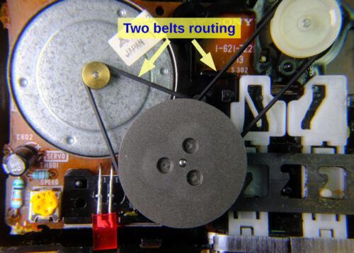 1 set of 2 belts for Sony WM-F45 WM-F35 WM-F22 WM-38 WM-F38 WM-F68 Walkman
