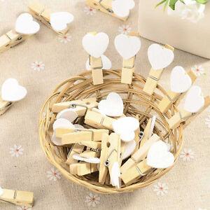 Lots-Mini-Heart-Wooden-Pegs-Photo-Clips-Wedding-Room-Decor-Craft-35-5MM