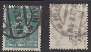 Deutsches Reich, N. 245, timbrato, esaminati VINO libro BPP e inflazione