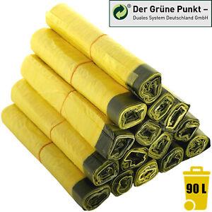 Gelber-Sack-Gelbe-Saecke-Muellbeutel-Muellsaecke-Abfallbeutel-Abfallsaecke-90L