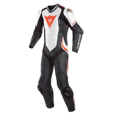 Aufstrebend Motorrad Lederkombi Einteilig Dainese Laguna Seca 4 Einteiler Sw/weiß/neon Neu Kleidung, Helme & Schutz Rennanzüge