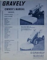 Gravely L Li Ls 2-wheel Garden Tractor Owner Operating & Parts Manual 28pg 1966